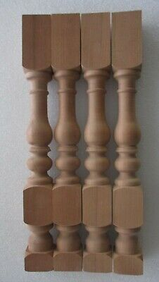 """SET 4 NEW UNFINISHED SOLID CHERRY POSTS TABLE SUPPORTS COLUMNS 18 3/4"""" high"""