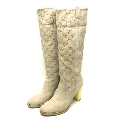b33025014 GUCCI CANVAS AUTHENTIC Knee Boots - $799.99 | PicClick