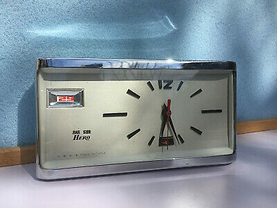 Vintage Mechanical Alarm Clock Chinese Hero Date Unique China Rare Old 1960s
