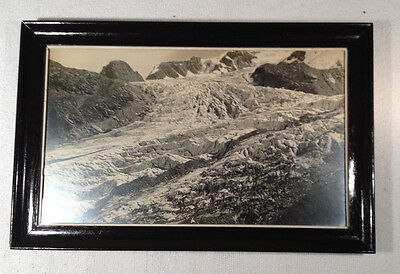 Vintage Original Photo of Glacier (Black & White) Wood  Frame
