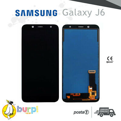 Display Lcd + Touch Screen Samsung Galaxy J6 Sm-J600F Vetro Nero Assemblato
