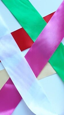 5 METER WIDE Satin Ribbon offcuts Bundle Birthday Gifts Wrapping craft Ribbons