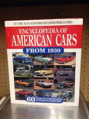 'Encyclopedia Of American Cars From 1930' HC Sixty Yrs Automotive History 1993