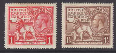 1924 Kgv British Empire Exhibition Wembley Set Of 2 Mint