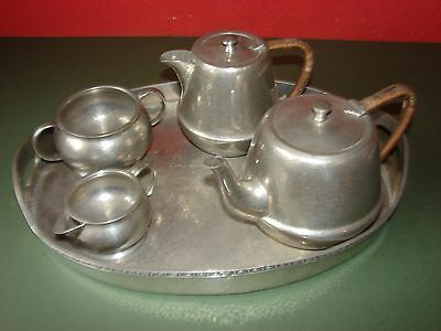 W & Co. Homeland Pewter Tea Set