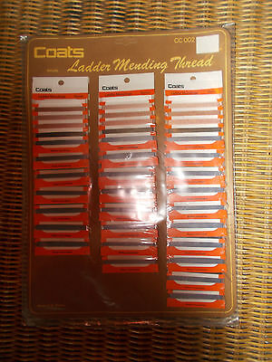 Vintage Coats Ladder Mending Thread Advertising Display New Old Stock Complete
