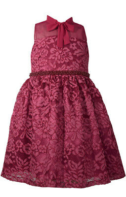 04ba0372afb382 Bonnie Jean Big Girls 7-16 Sleeveless Beaded Waist Holiday Party Dress