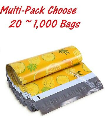 20~1000 Bags 10x13 Pineapple Designer Poly Mailers Envelopes Boutique Custom