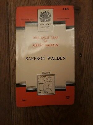 Ordnance Survey One Inch Map - Sheet 148 Saffron Walden (Paper 1968)