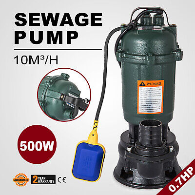 500W Submersible Sewage Dirty Waste Water Pump 10m3/h Professional Ø50mm GOOD