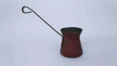 Antique & Vintage Dallah wrought copper pot for coffee Handmade brass Handle old
