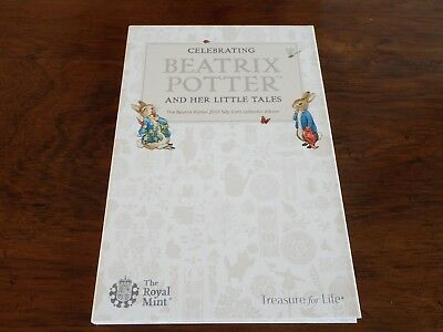 2017 Royal Mint Beatrix Potter 50p Coin Collector Album - Brand New