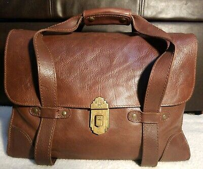 WILL LEATHER GOODS Jacques Burnished Cognac Leather