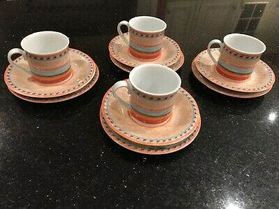 Villeroy & Boch Country Collection coffee set with 4 cups, saucers & side plates