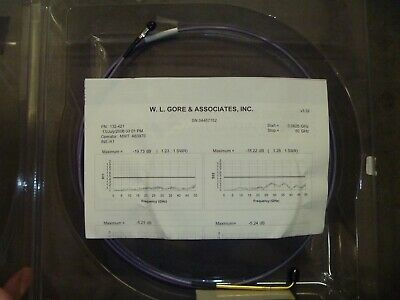 """Gore 50Ghz Cable, 2.4mm Male RA to 2.4mm Female 48"""" NEW, Wafer Prober, Probing"""