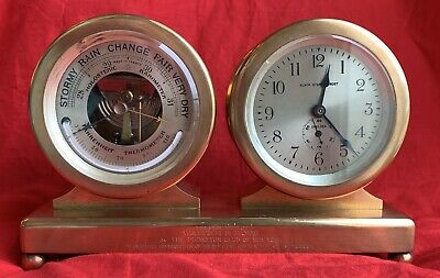 Antique Chelsea Clock Co barometer/timepiece desk clock Princeton President 1927