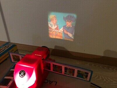Vintage German Toy - Boxed Childrens Projector, working. battery operated retro!