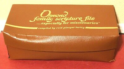 Osmond Family Scripture File Especially for Missionaries Mormon Missionary Pal