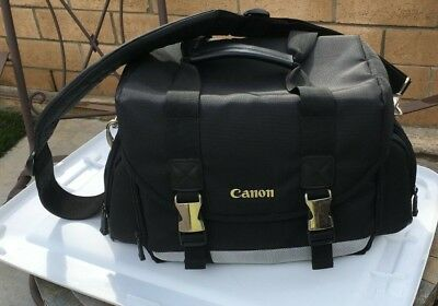 Canon 200DG Digital SLR Camera Case Gadget Bag Nylon/multi pocket/strap Exc Cond