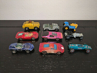 MIXED LOT of 9 Vintage/Antique Die Cast Vehicles - Hot Wheels Matchbox & More!