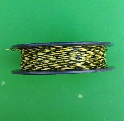 (NEW) General Cable Cross Connect Wire 1PR 24 AWG Black + Yellow 500 FT