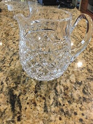 Lenox Crystal Diamond Pattern Jug Juice Pitcher