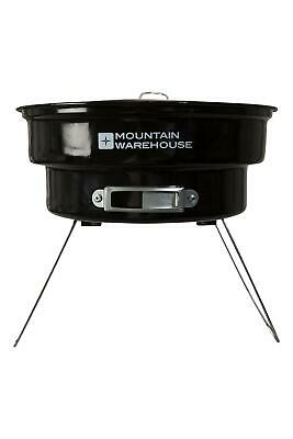 Mountain Warehouse Portable BBQ - Two Layer Grill & Foldable Legs in Black