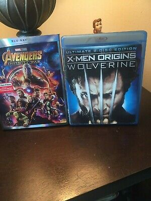 2 Awesome Blu Ray Movies Marvel Studios Avengers Infinity War + Wolverine
