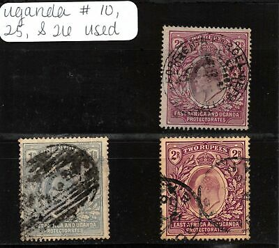 Lot of 3 East Africa & Uganda Protectorates Used Stamps #123009* X