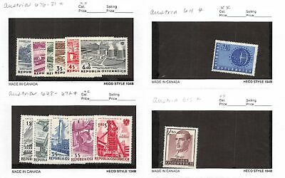 Lot of 27 Austria MNH Mint Never Hinged Stamps #120576* X R