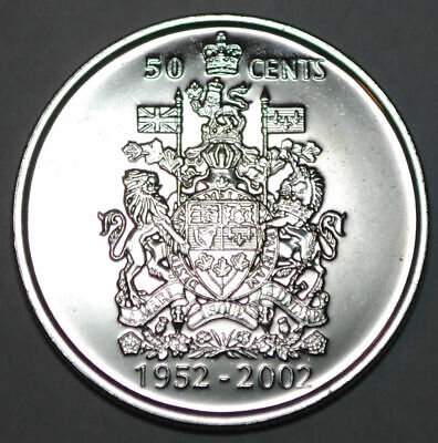 CANADA 2002 Jubilee 50 Cent Coin; from UNC mint roll