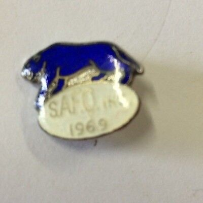 1969 South Adelaide Football Club Member Badge Pin Panthers
