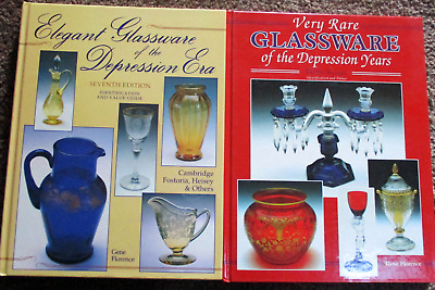 Books VERY RARE DEPRESSION YEARS GLASSWARE & ELEGANT DEPRESSION ERA GLASS B11