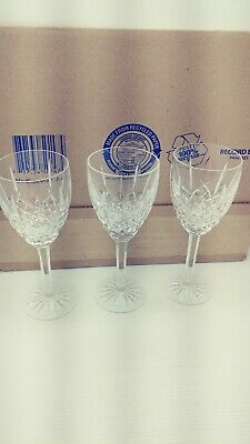 Waterford Crystal Araglin 7-7/8 Inch Water Wine Glass X3