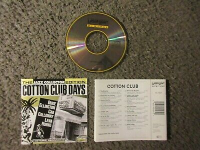 """V/A """"Cotton Club Days:the Jazz Collectors Edition"""" 1991 16 Trx.nm Oop Cd"""