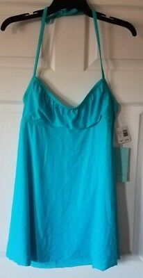 c36c5be672141 $48 NWT Eco Swim by Aqua Green Swimsuit Cover Up Halter Dress Turq Size L  Large