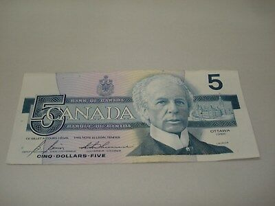 1986 - Canadian five dollar bill - $5 Canada note - GPT8008976