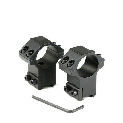 Hunting 1 Pair High Profile 30mm Ring Scope 11mm Rail Mount Laser Flashlight