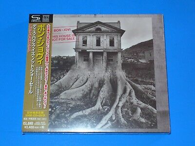 2018 Japan Only Release Bon Jovi This House Is Not For Sale Shm Cd+Dvd Slip Case