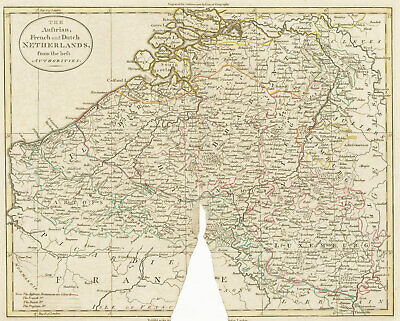 19th Century Engraving - Map of the Netherlands