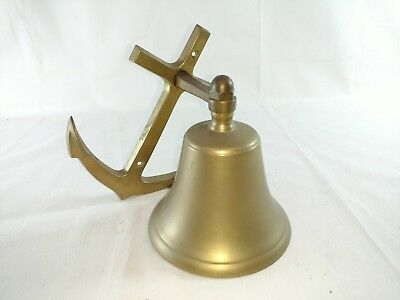 "6.5"" Brass Anchor Bell - Nautical Ship Boat"