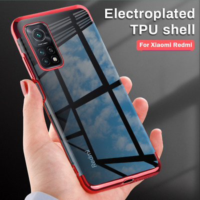 For Xiaomi Redmi Note 7 Hybrid Plating Transparent Silicone TPU Back Case Cover