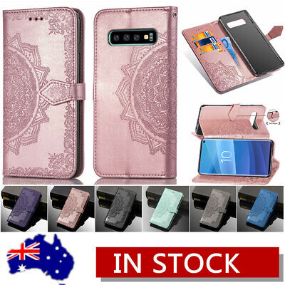 For Samsung S10+ S10e Note 8 A8+ 2018 Leather Wallet Flip Card Stand Case Cover