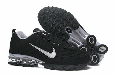 buy online ffe78 4425f BRAND NEW Nike Shox Flyknit 628 Running Shoes Black White Men s Size 11