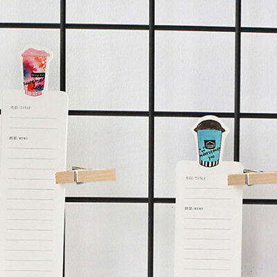 30pcs Coffee Diary Bookmarks Paper Clip Office Stationery Gift Stylish Decals