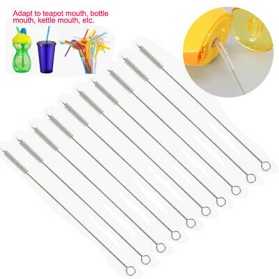 10pcs Safe Cleaning Tools Stainless Steel Healthful Rustless Straw Baby