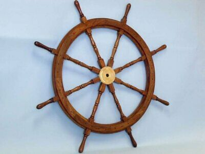 Antique Brass Nautical SEXTANT Collectible Vintage Instrument With Wooden Box