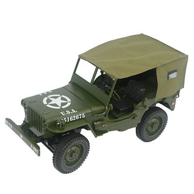 2.4G RC Car 1:10 Mini Military Jeep Remote Control Buggy 4WD Off-Road With Tent