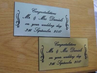 Personalised Engraved Marriage Celebration Plaque Various Sizes.- LPT5