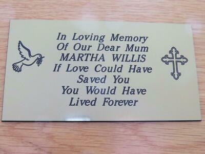 Personalised Engraved Memorial or Celebration Plaque Various Sizes.- LPT18